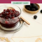 cranberries in a glass dish