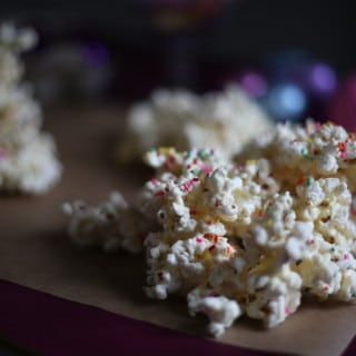 popcorn on a table