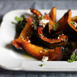 Maple Roasted Squash with Goat Cheese