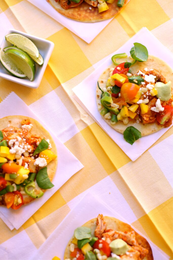 Chicken Taco Sliders with Veggie Salsa