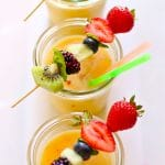 fruit slushees on a white background
