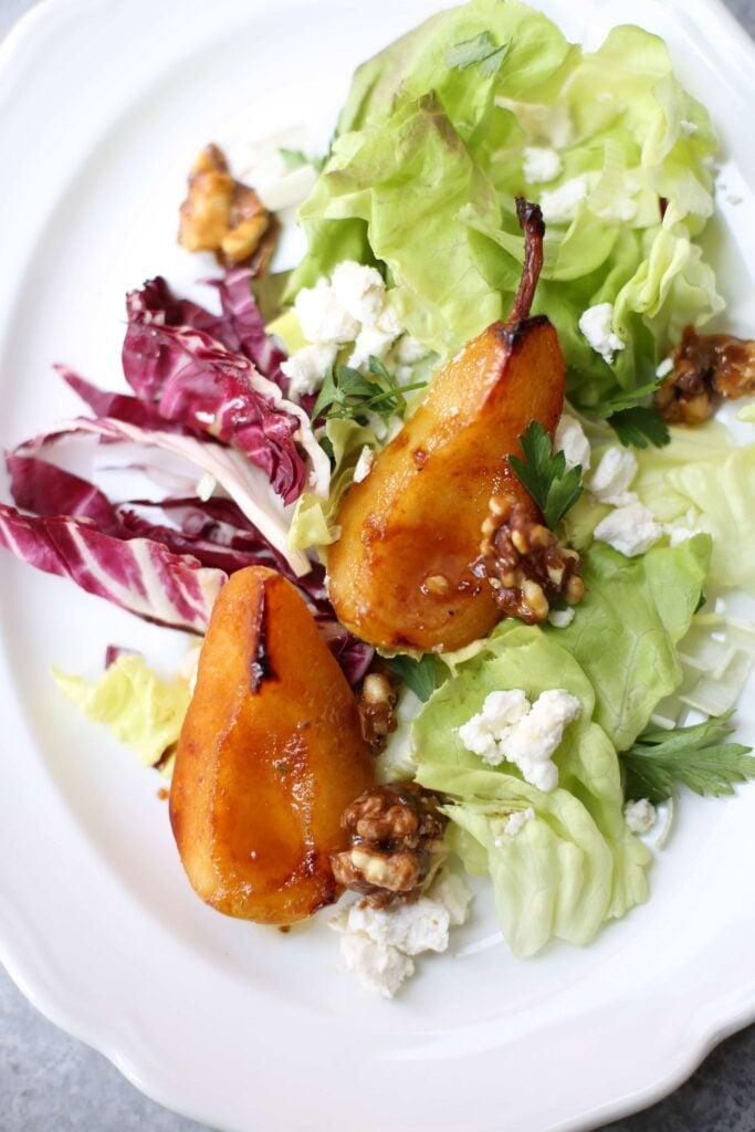 Pan Roasted Pear Salad