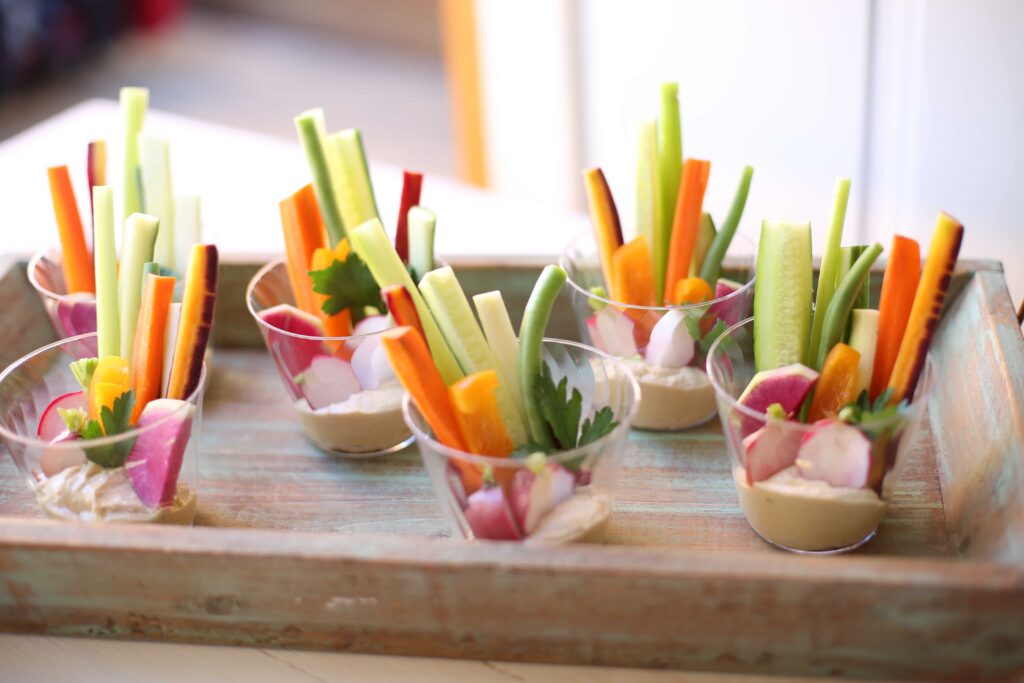 Little Veggie Cups with Hummus