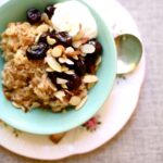Oatmeal with Cherry Almond Compote