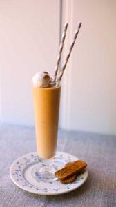 Pumpkin Milkshake on a table