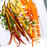 Roasted Carrots ona white platter