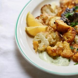 cauliflower on a platter