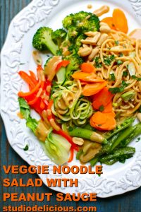 salad with broccoli and noodles