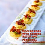 deviled eggs with text