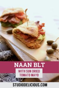 naan BLT and text
