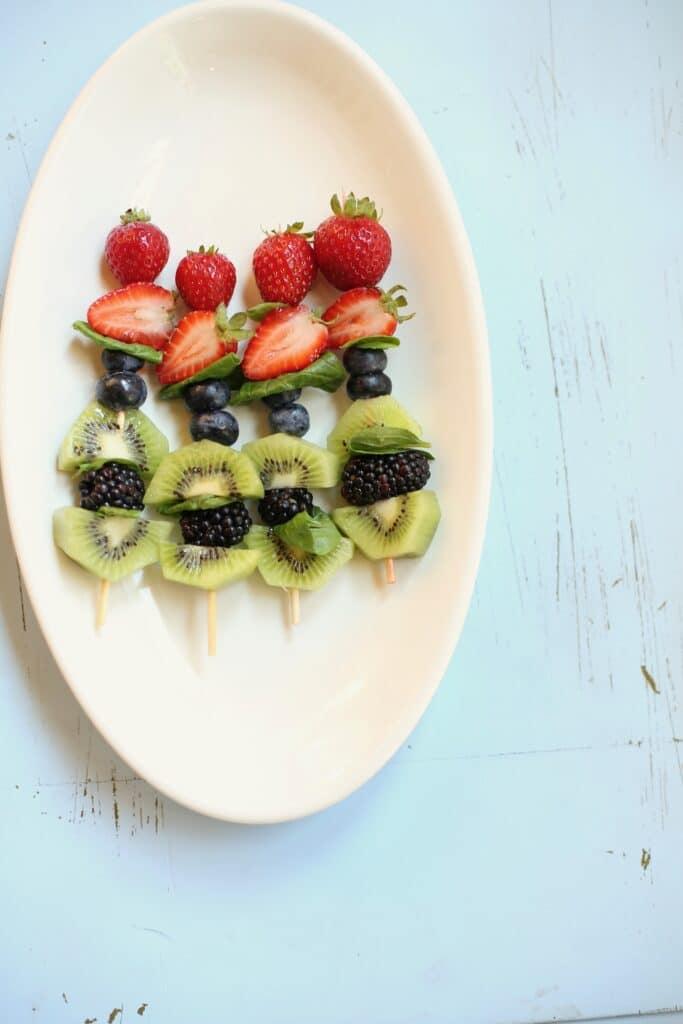 fruit kabobs for frozen pineapple nectaroine slushee