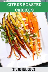carrots on a white platter