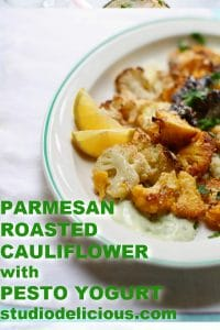 roasted cauliflower with text