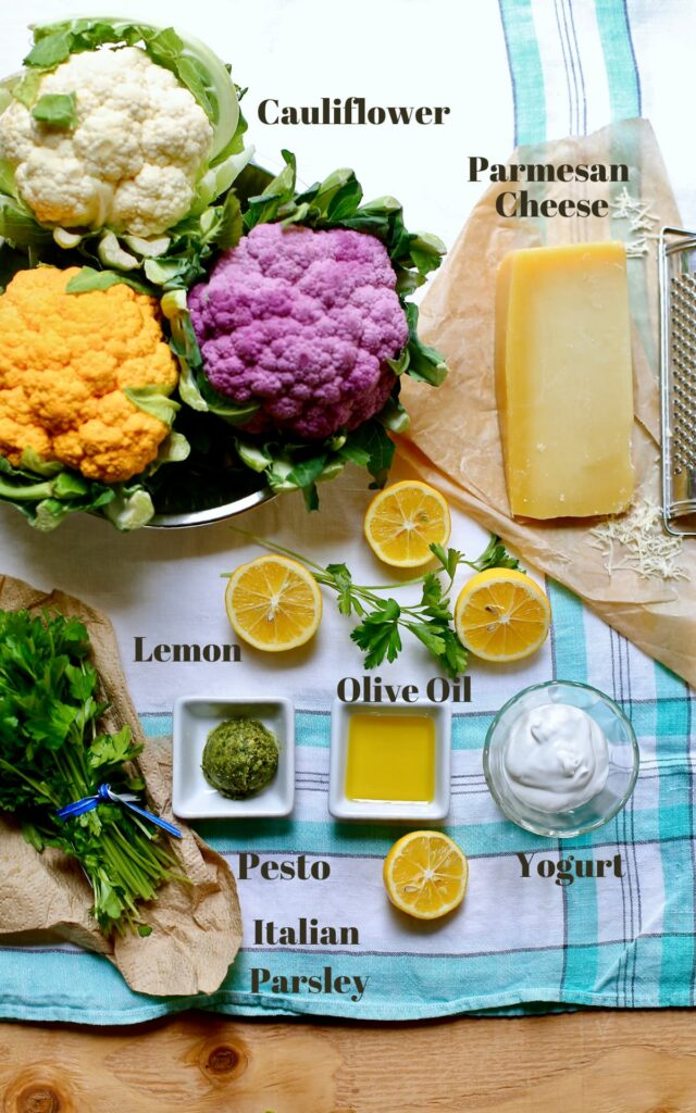 a cutting board with a list of ingredients needed for a recipe.