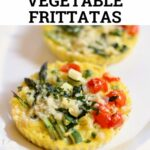 frittatas on a white platter